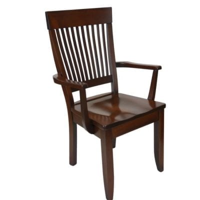 dark brown mission arm chair - right side