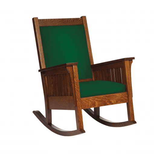 AMRC Green and Brown Chair left side