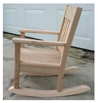 amish childs rocking chair