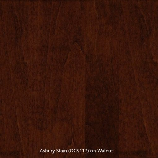 Stain Sample - Asbury Stain (OCS 117) on Walnut Wood