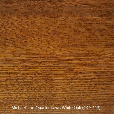 Stain Sample - Michael's Stain (OCS 113) on Quarter-sawn White Oak