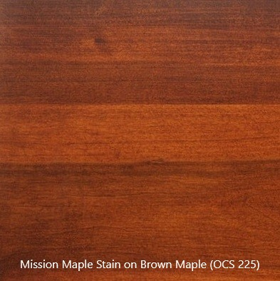 Stain Sample - Mission Maple Stain (OCS 225) on Brown Maple