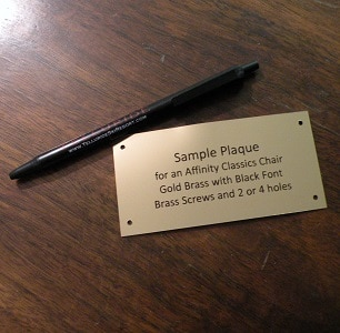 Nameplate Sample by Alumni Chairs
