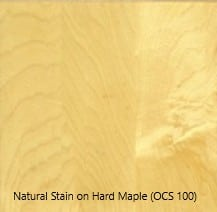 Natural Stain on Hard Maple