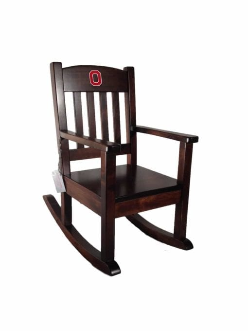 Ohio State childrens rocking chair right sideview