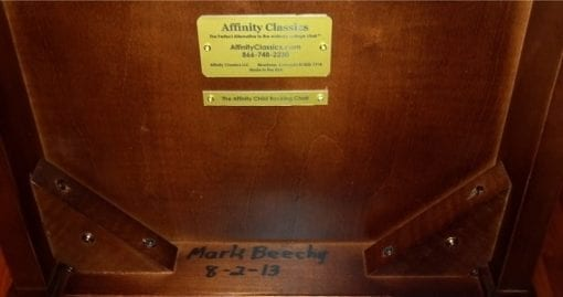 Plates under seat on ACRC