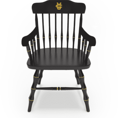 UCI gold logo Black Chair